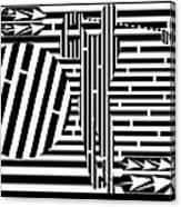 Golf Swing Maze  Canvas Print