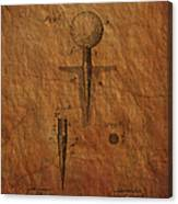 Golf Tee Patent  Canvas Print