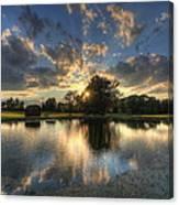 Golfcourse Sunset Canvas Print