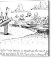 Golfing Through A Warzone Canvas Print