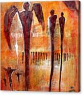 Golgotha Petroglyph Canvas Print