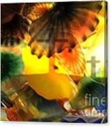 Golotha Glass Flowers Canvas Print