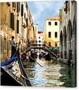 Gondola 158-venice Canvas Print