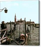 Gondola Dock Canvas Print