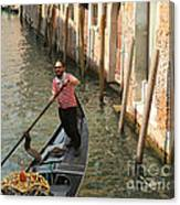 Gondola Man Canvas Print