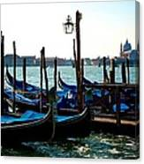 Gondolas At Rest Canvas Print