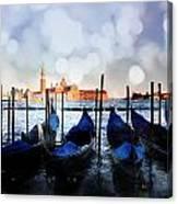 Gondolas At The Moorings Canvas Print