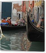 Gondolas In Venice Canvas Print