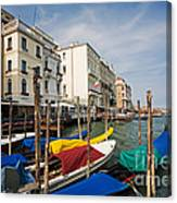 Gondolas On The Grand Canal Canvas Print