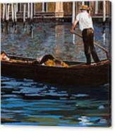 Gondoliere Sul Canale Canvas Print