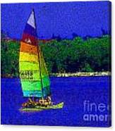 Gone For A Sail Canvas Print