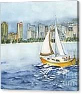 Gone Sailing Canvas Print
