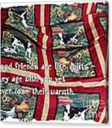 Good Friends Are Like Quilts Canvas Print