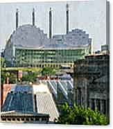 Good Morning Kansas City Skyline Painterly Canvas Print
