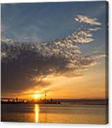 Good Morning Toronto With A Glorious Sunrise Canvas Print