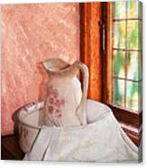 Good Morning- Vintage Pitcher And Wash Bowl  Canvas Print