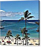 Good Morning Waikiki Canvas Print