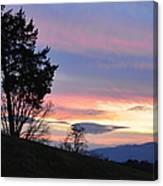 Good Night Blue Ridge Canvas Print