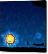 Good Night Sun Canvas Print
