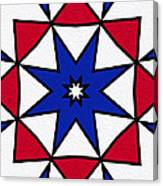 Good Old Red White And Blue 2 Canvas Print