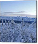 Goodnight Chugach Canvas Print