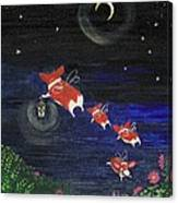 Goodnight Flowers Canvas Print