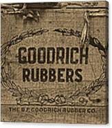 Goodrich Rubbers Boot Box Canvas Print