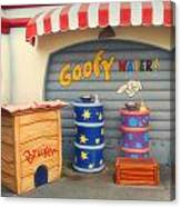 Goofy Water Disneyland Toontown Canvas Print
