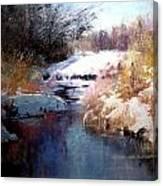 Goose Creek Winter Canvas Print