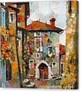 Gordes- Colorful Street Canvas Print