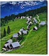 Goreljek Shepherding Village In Alpine Canvas Print