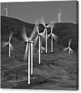 Gorge Windmills B W Canvas Print