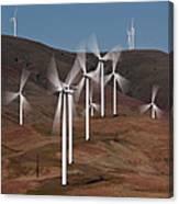 Gorge Windmills Canvas Print