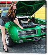 Gorgeous Green Goat Gto Canvas Print