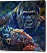 Gorillas In The Mist Canvas Print