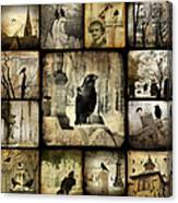 Gothic And Crows Canvas Print