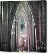 Gothic Arches Hands Folded In Prayer Canvas Print