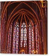 Gothic Architecture Inside Sainte Canvas Print