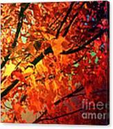 Gothic Autumn Leaves Canvas Print