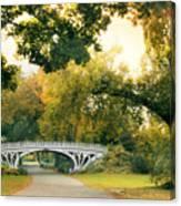 Gothic Bridge In Central Park Canvas Print