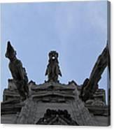 Milan Gothic Cathedral Gargoyles Canvas Print