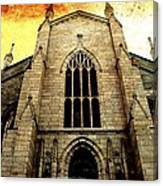 Gothic Church Cathedral Photograph Canvas Print