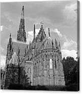 Gothic Church In Black And White Canvas Print
