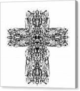 Gothic Cross Canvas Print