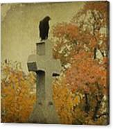 Gothic Fall Crow Canvas Print