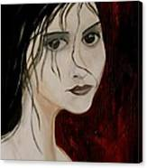 Gothic Portrait Of Woman Painting Canvas Print