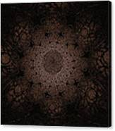 Gothic Stained Glass - Sepia Canvas Print
