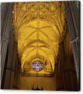 Gothic Vault Of The Seville Cathedral Canvas Print