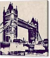 Gothic Victorian Tower Bridge - London Canvas Print