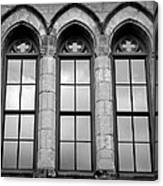Gothic Windows - Black And White Canvas Print